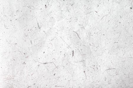 Textura de papel gris o fondo blanco, papel de morera con patrones de pulpa transparente vista superior abstracta Foto de archivo