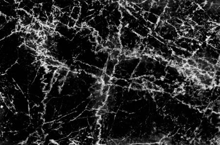 Marble black and white patterns with line curly vein texture natural background Stock Photo