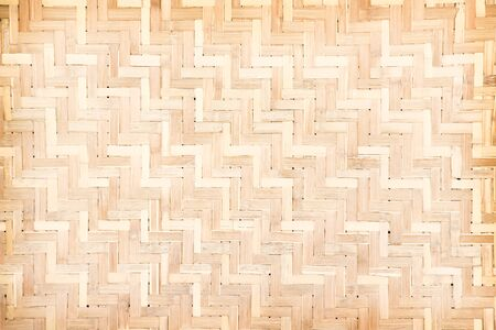 Bamboo texture in weave seamless pattern , crafts wood background