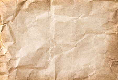 Wrinkle paper texture abstract brown background , copy space Standard-Bild