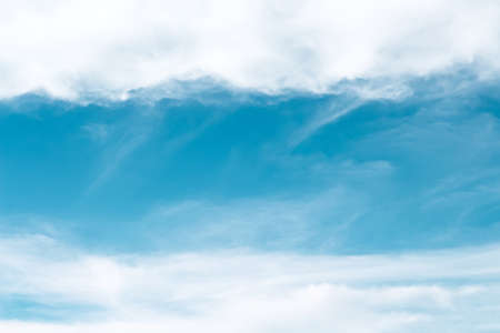Clouds sky nature outdoor with space , white and light blue background