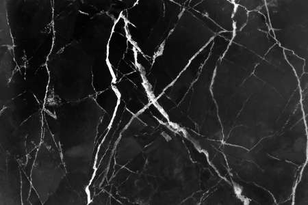 Marble black background with white line lightning patterns abstract
