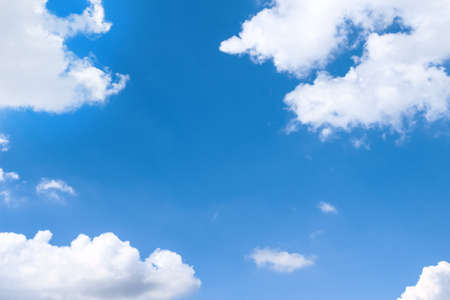 Clouds sky frame bright blue nature background and copy space 版權商用圖片