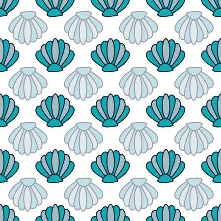 beach swimming snorkel repeat vector pattern