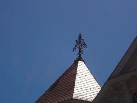 weather vane on Victorian roof