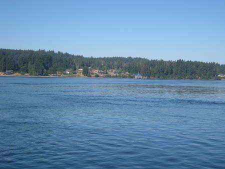 island approaching-view Фото со стока