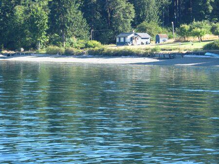 sea shore village Фото со стока