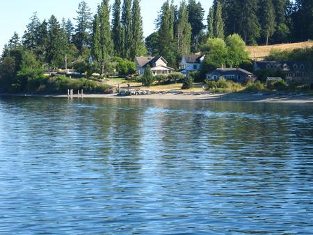 island village on sunny day