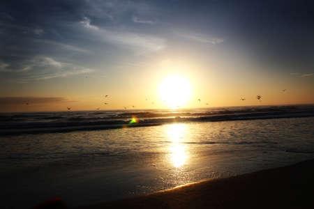 Sunrise over the beautiful Atlantic Ocean in Florida