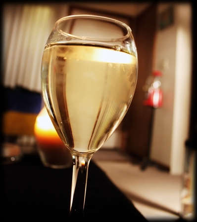 a refreshing glass of white wine