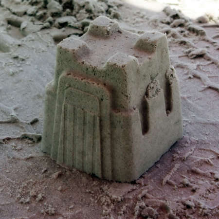 a sand castle in florida