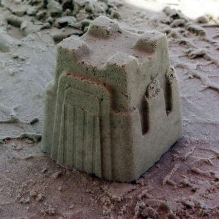 un castello di sabbia in florida  Archivio Fotografico