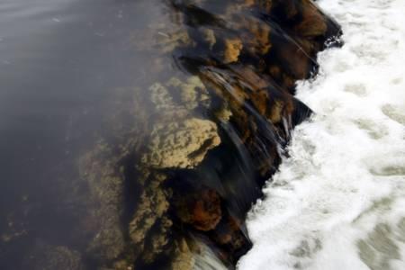 un flusso colorato, rocky