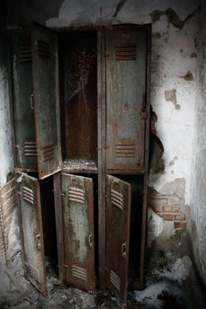 old room: rusty lockers