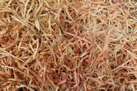 long wood shavings (horizontal) Reklamní fotografie