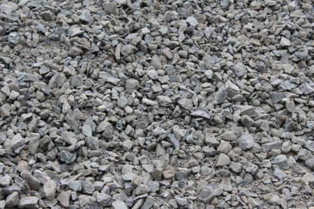 crushed rock aggregate gravel (horizontal) Stok Fotoğraf