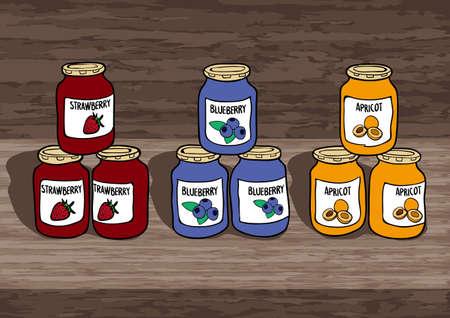 blueberry muffin: Jam Illustration