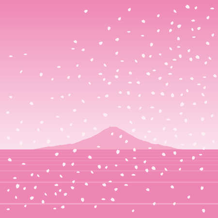 winter cherry: Mt.Fuji
