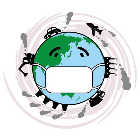 contaminacion ambiental: La ilustraci�n de la contaminaci�n ambiental