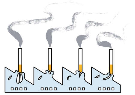 Smoke damage Illustration