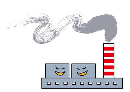 incineration: Smoke damage Illustration