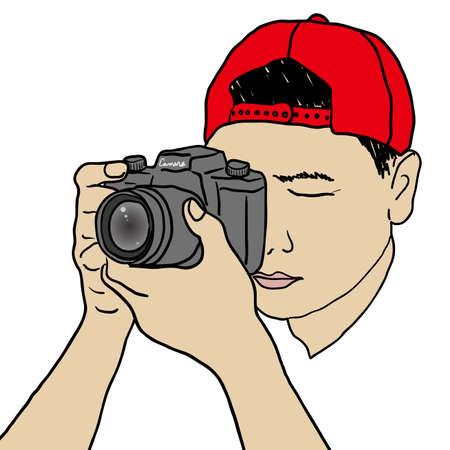 film shooting: Photographer Illustration