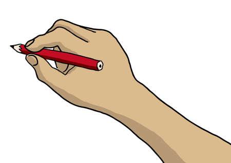 handtekening  Stock Illustratie