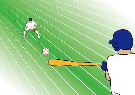 practice: hit baseball during fielding practice