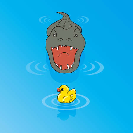 invincible: Duck toy is not afraid of the crocodile