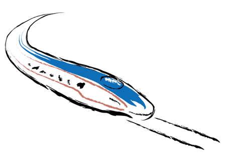 shinkansen: Shinkansen illustrations by hand-paintzad