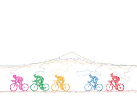 Ciclisti Archivio Fotografico - 59955663