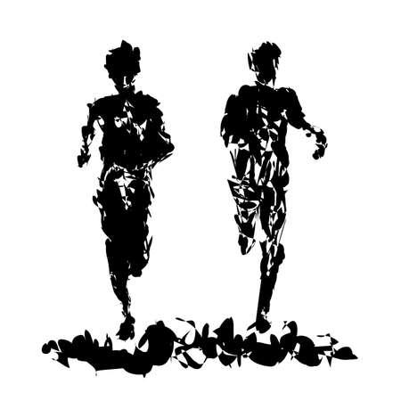 マラソンのイラスト  イラスト・ベクター素材