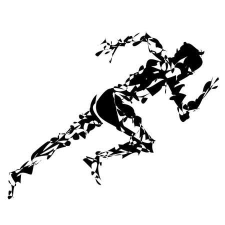 Illustration of sprint 矢量图像