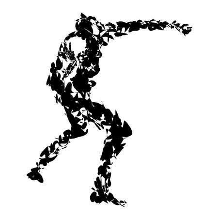 shot put: Illustration of athlete