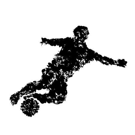 dribbling: Football players
