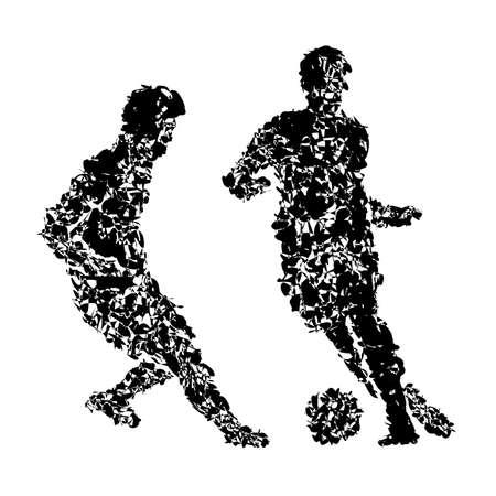サッカー選手  イラスト・ベクター素材