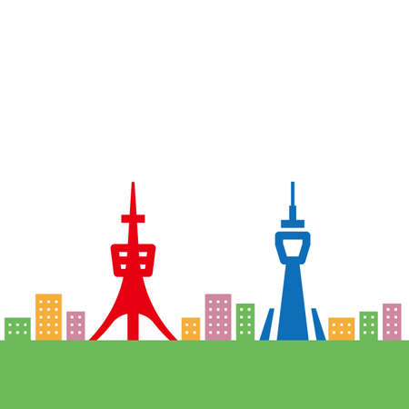 Translation Tokyo-Letter of Tokyo written in Japanese Kanji. Illustration