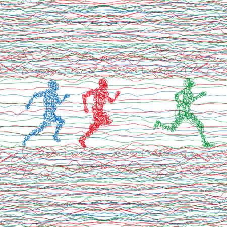 sprint: Illustration of sprint Illustration