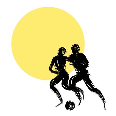 サッカー選手のイラスト 写真素材 - 64401219