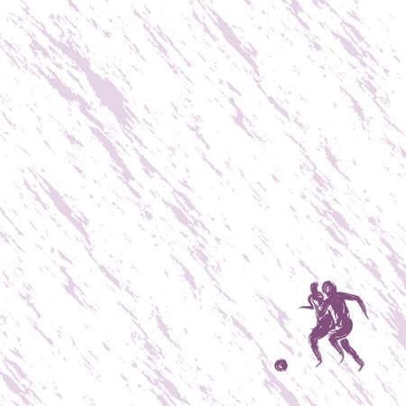 dribbling: Illustration of football players Illustration