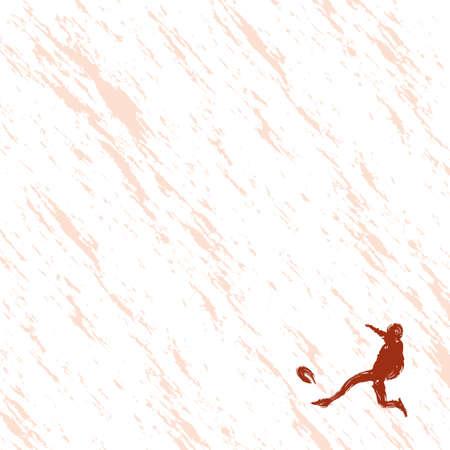 サッカー選手のイラスト  イラスト・ベクター素材