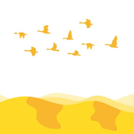鳥の群れ 写真素材 - 66973567