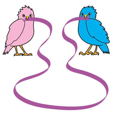Bird and ribbon