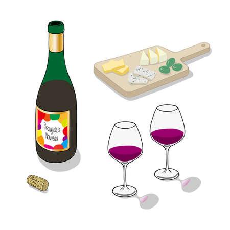 Beaujolais Nouveau Stock Illustratie