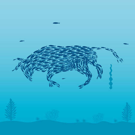 Sardines that form a bull.