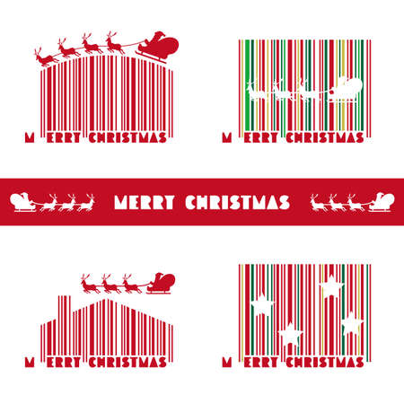 Merry Christmas barcode design