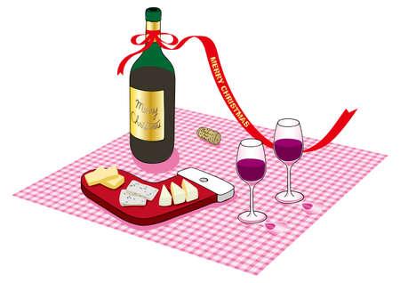 Kerstdrank vector illustratie Stock Illustratie