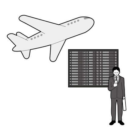 Businessman and public transportation Illustration