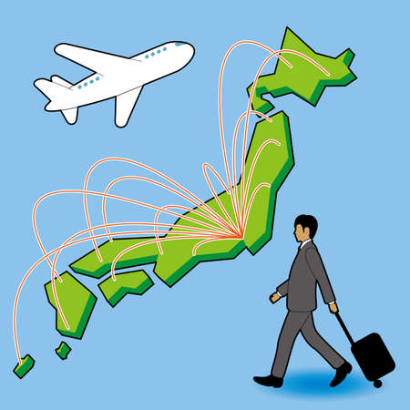 Businessman who travels by plane