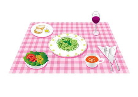 Italian lunch set
